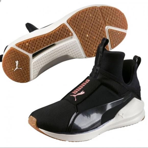 62c968e0 Puma Fierce Black Rose Gold Shoes
